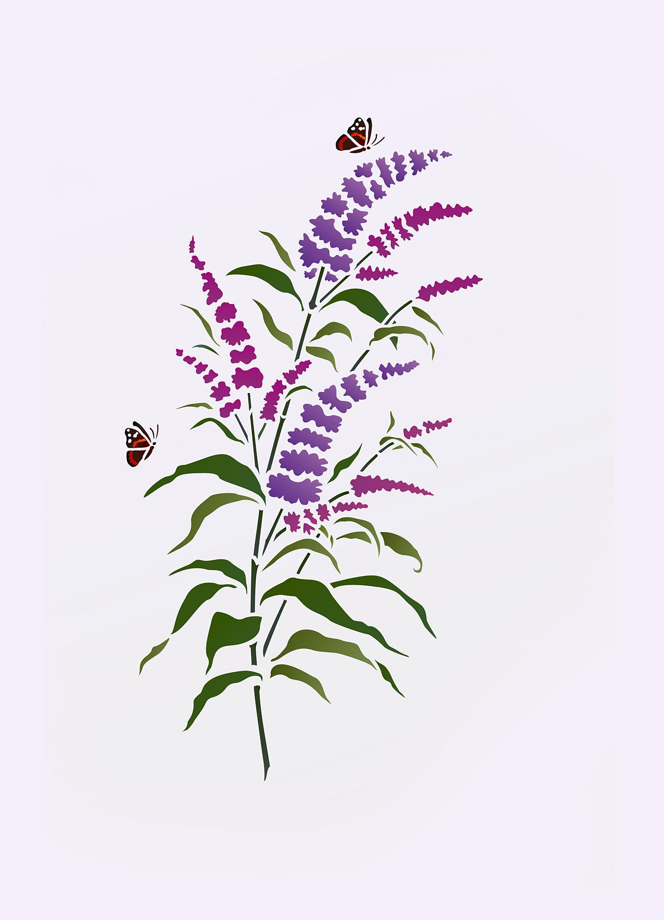 Wild Flower Stencils Archives Henny Donovan Motif