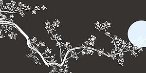 Cherry Blossom Amp Moon Stencil Henny Donovan Motif