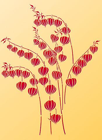 chinese lantern stencil henny donovan motif