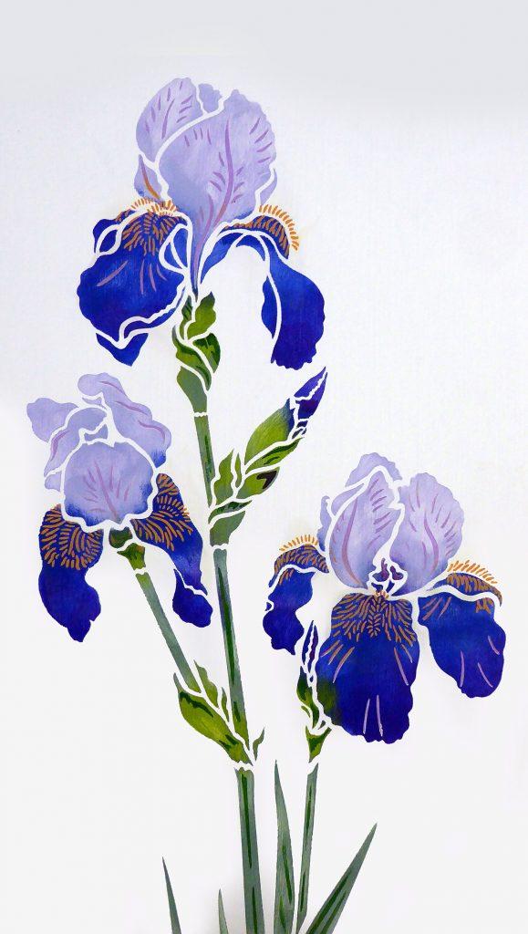 Iris Stencil 2 Henny Donovan Motif