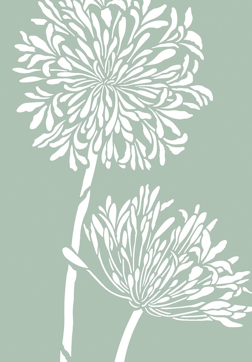 Large Flower Stencils : Large agapanthus stencil henny donovan motif