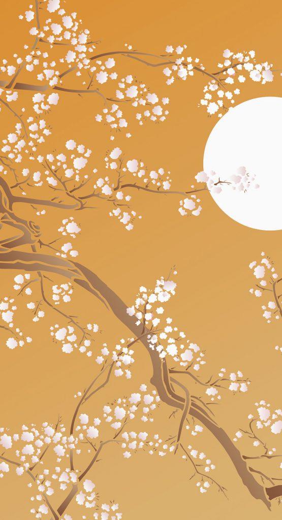 Cherry Blossom Flower Stencil: Large Cherry Blossom Stencil