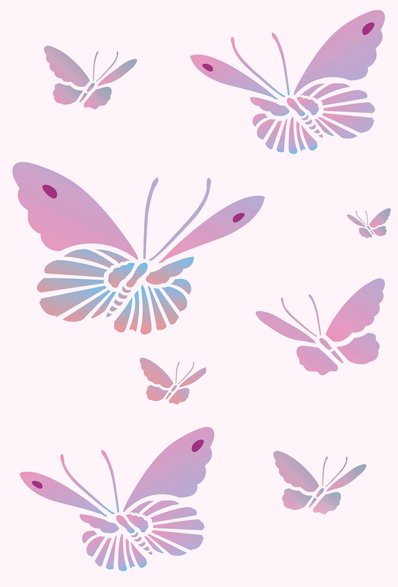 Oriental Butterfly Stencil Henny Donovan Motif