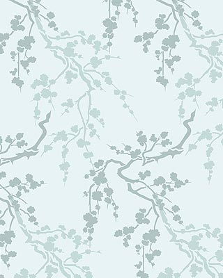 Small blossom silhouettes stencil henny donovan motif for Oriental style wallpaper uk