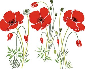 Large wild poppies theme pack stencil henny donovan motif mightylinksfo