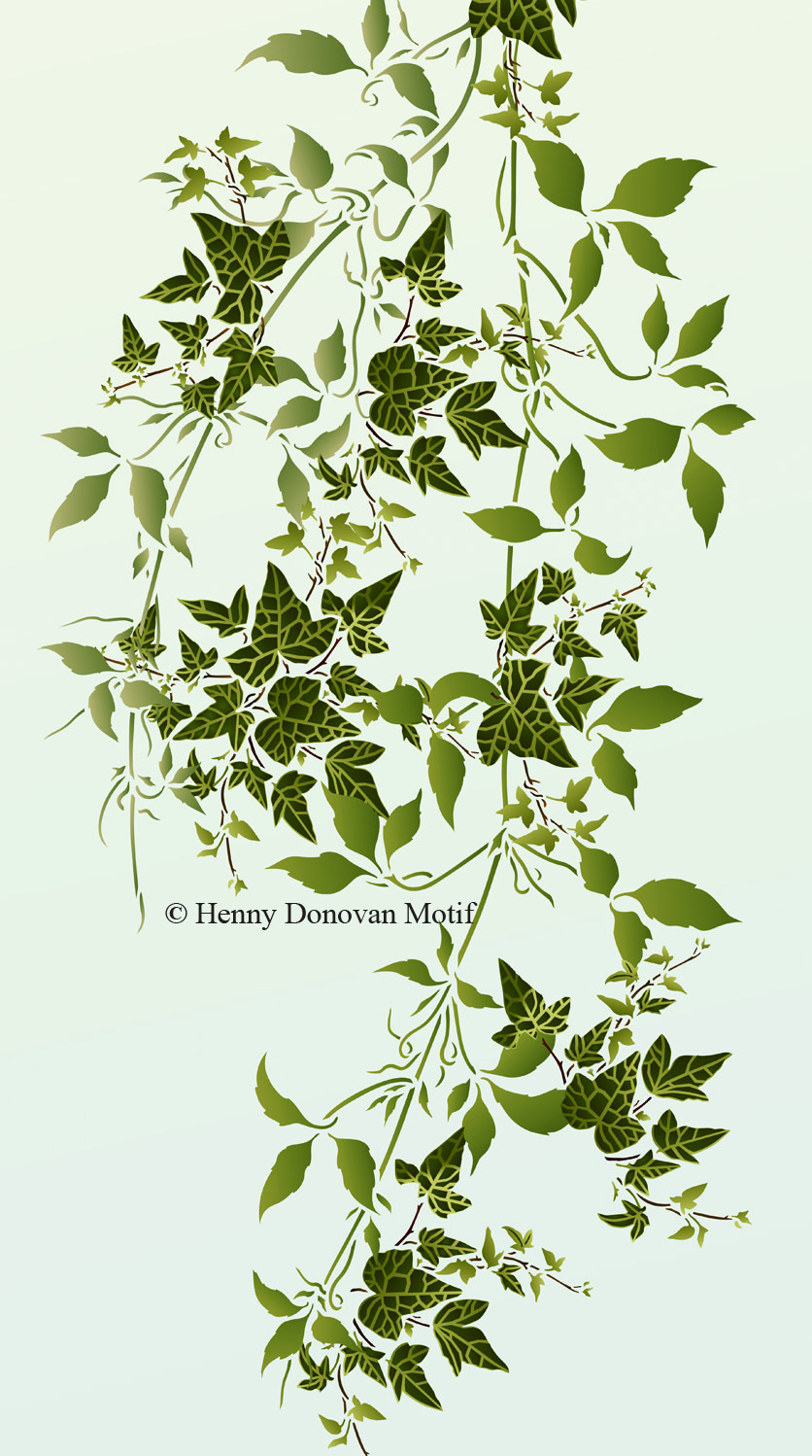 Little Ivy and Trailing Clematis Leaves Stencils