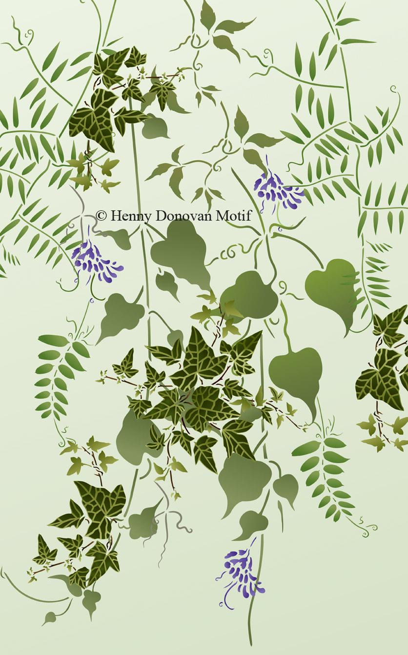 Little Ivy and Wild Vines Stencils