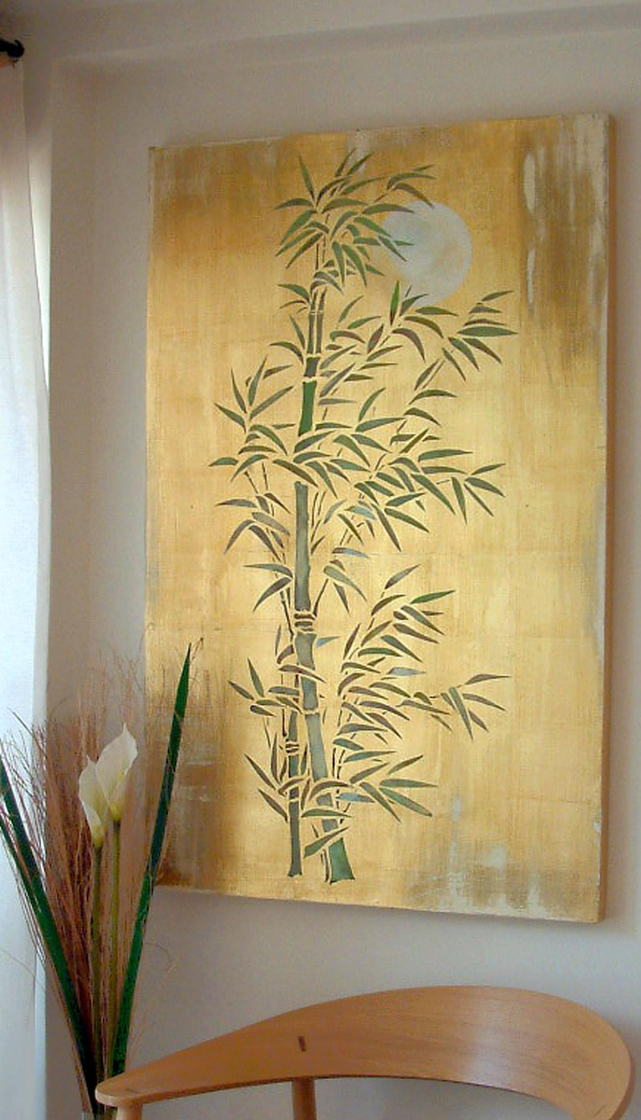 Oversize Bamboo & Moon Stencil - Henny Donovan Motif