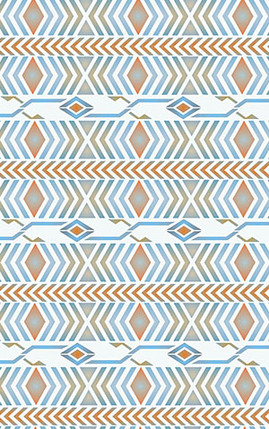 above the navajo chevron border stencil is shown here layered between two of the border motifs of the broken arrow border theme pack stencilled in the