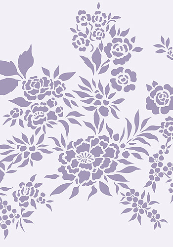 chinese flowers theme pack stencil