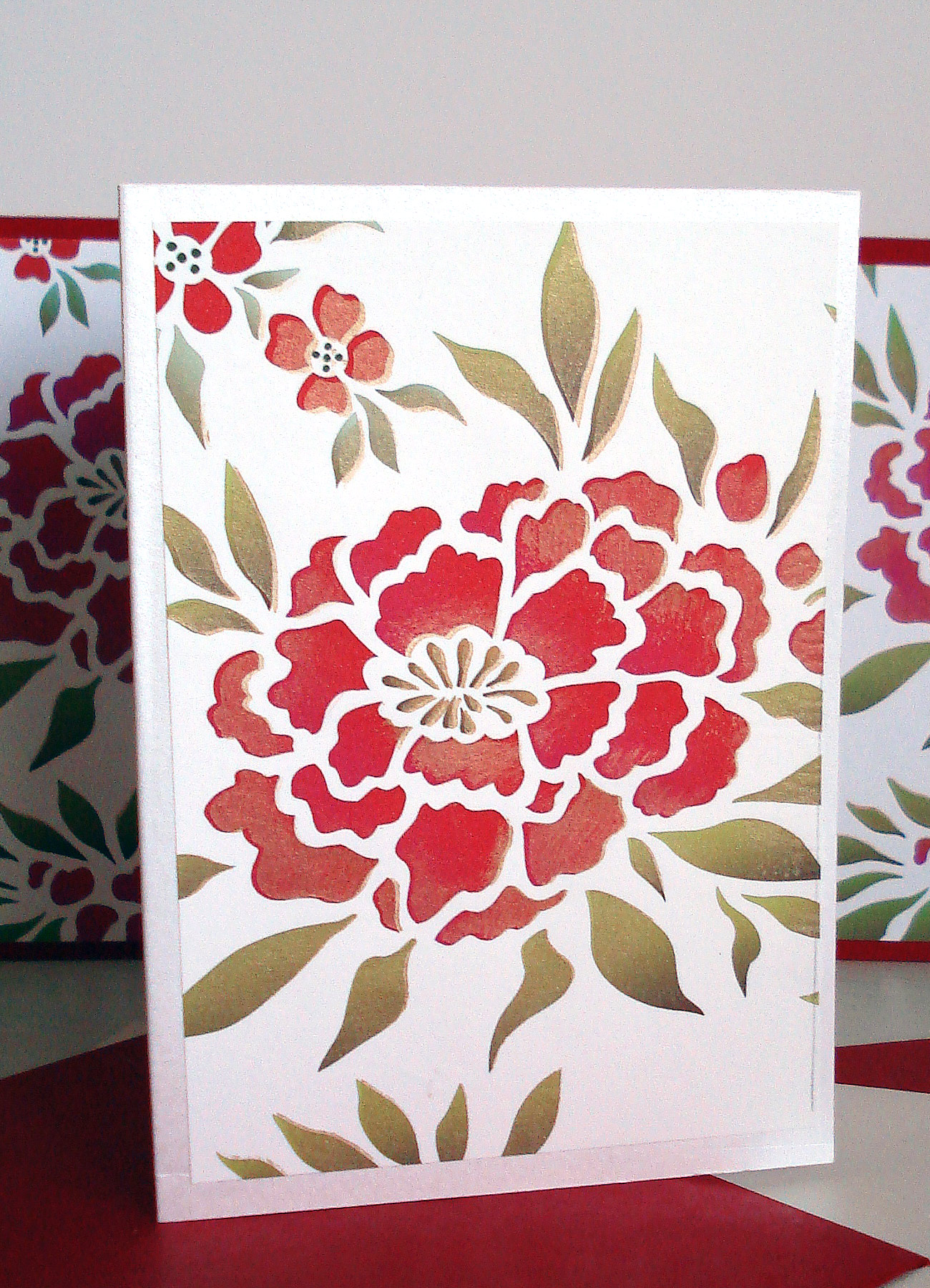 Chinese Flowers Theme Pack Stencil Henny Donovan Motif