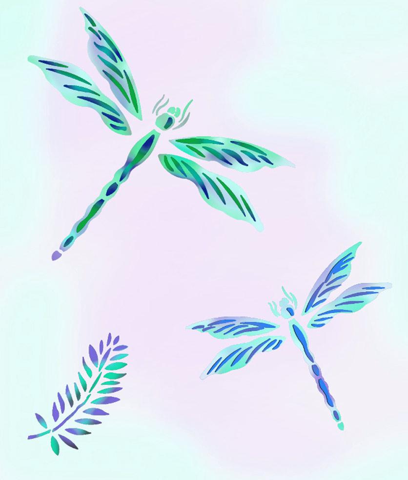 Dragonfly Stencil - Henny Donovan Motif