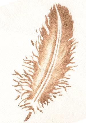 Feathers Theme Pack Stencil Henny Donovan Motif