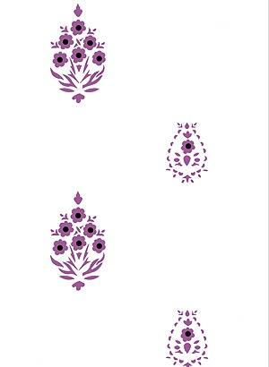Gujarat Indian Repeat Stencil Henny Donovan Motif