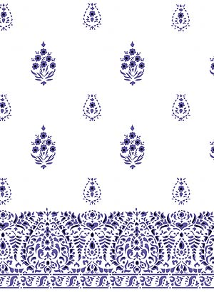 Gujarat Indian Repeat Stencil Henny Donovan Motif