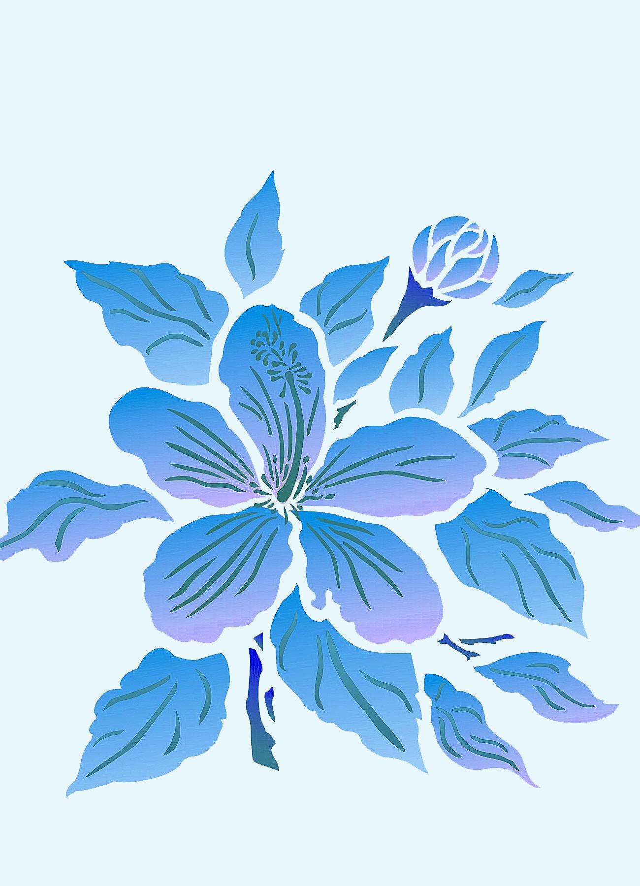 Hibiscus flower stencil 1 henny donovan motif hibiscus flower stencil 1 izmirmasajfo