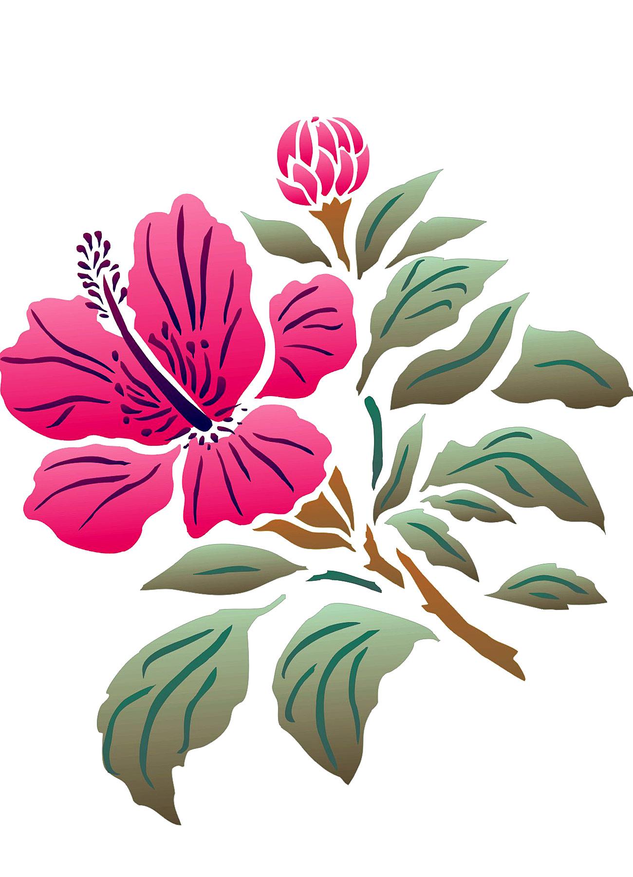 Hibiscus flower stencil 2 henny donovan motif hibiscus flower stencil 2 izmirmasajfo