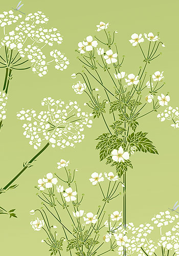 Japanese Anemone Flower Stencil Henny Donovan Motif