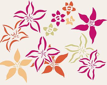 Japanese Flowers Theme Pack Stencil - Henny Donovan Motif
