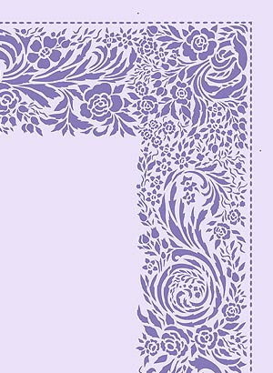Lace Border And Corner Stencil Henny Donovan Motif