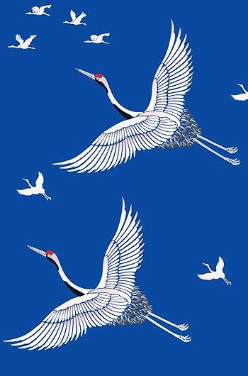 Large Flying Cranes Stencil Henny Donovan Motif