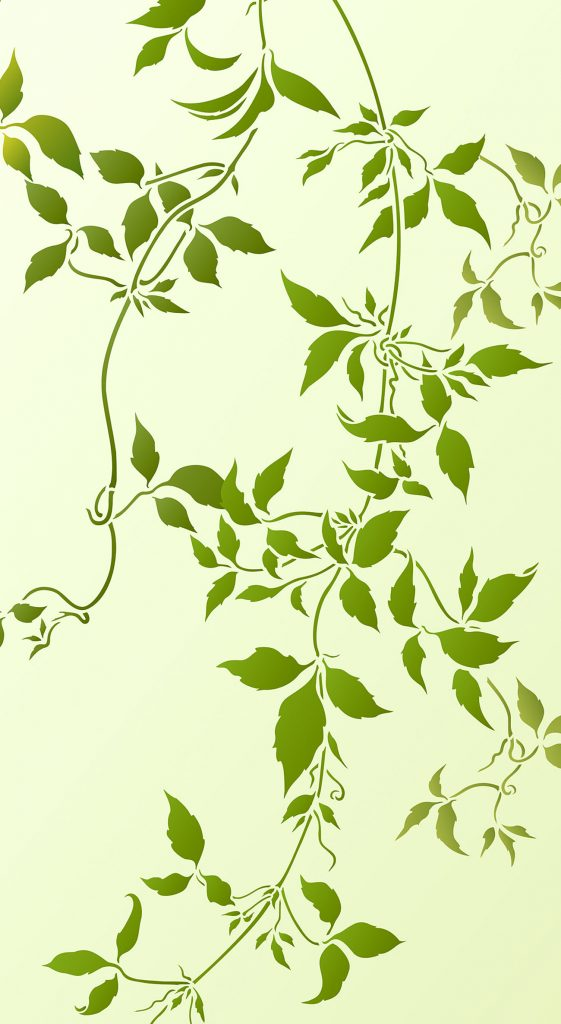 Large Trailing Clematis Leaves Stencil Henny Donovan Motif
