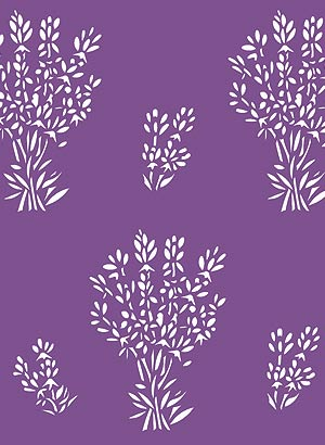 Lavender Sprigs Stencil Henny Donovan Motif