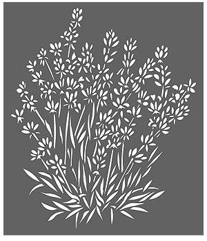 Lavender Stencil Henny Donovan Motif