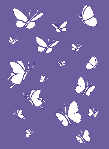 Pretty Erfly Stencil Template Photos >> Flying Butterfly Pattern Use ...