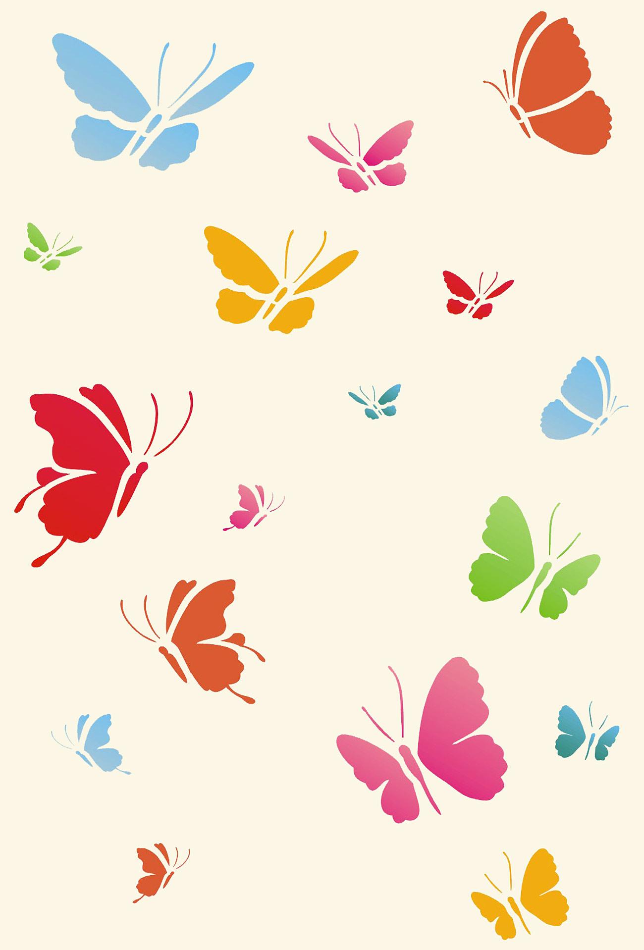 Little Butterflies Stencil 2 Henny Donovan Motif