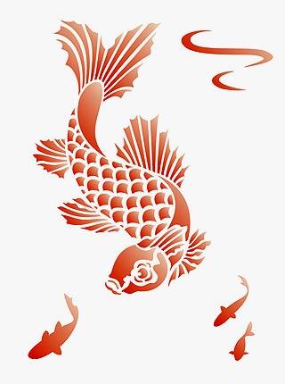 Little koi stencil 1 henny donovan motif for Little koi fish