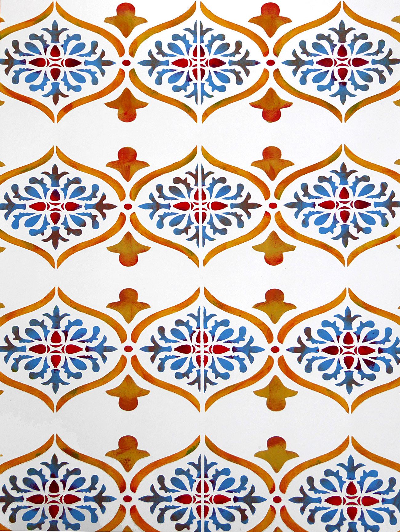 Moroccan Ornamental Border Stencil Henny Donovan Motif