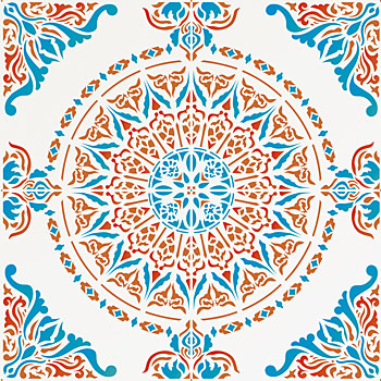 Large Moroccan Ornamental Tile Design Stencil Full Repeat Henny Best Moroccan Design Pattern