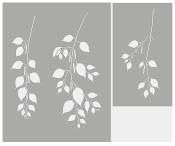 how to make a leaf stencil