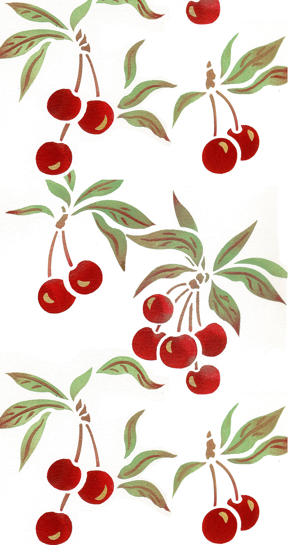 Sweet Cherries Theme Pack Stencil Henny Donovan Motif