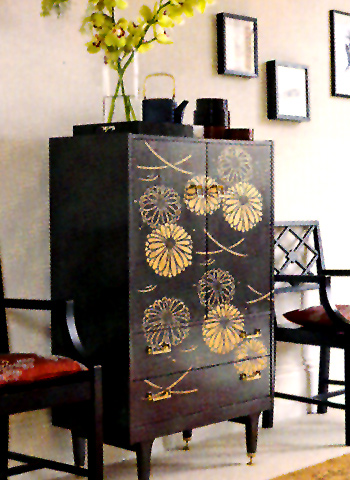 Above And Below U2013 The Japanese Water Chrysanthemum Stencil Is Used Here To  Create A Classic Lacquerware Oriental Cabinet With An Effective Modern  Twist U2013 As ...