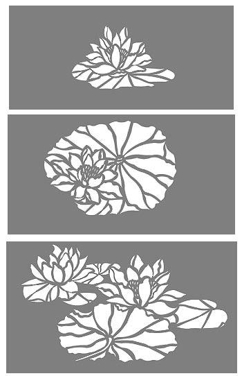 Water Lilies Stencil Henny Donovan Motif