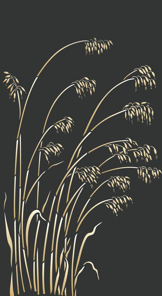 Wild Oat Grass Stencil Henny Donovan Motif