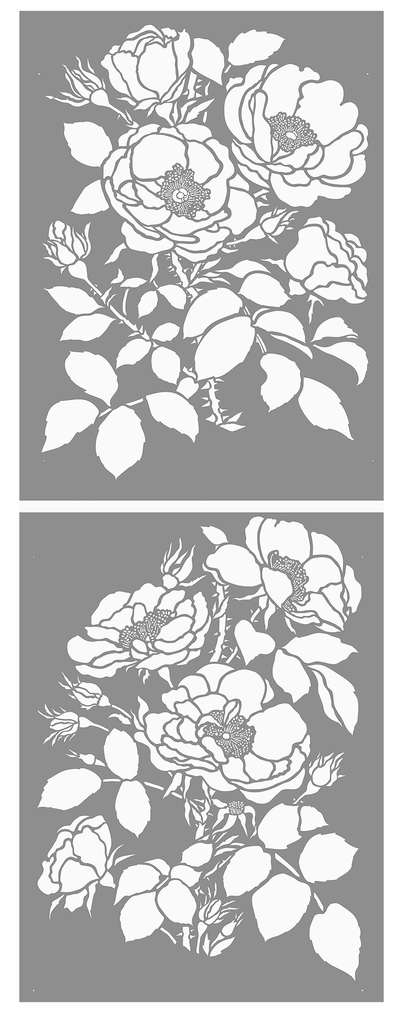 It's just a graphic of Ambitious Flower Stencils Printable