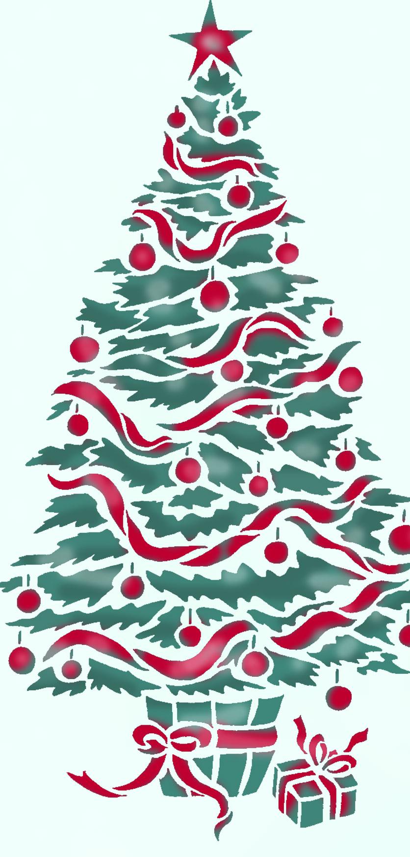 oversize christmas tree stencil henny donovan motif
