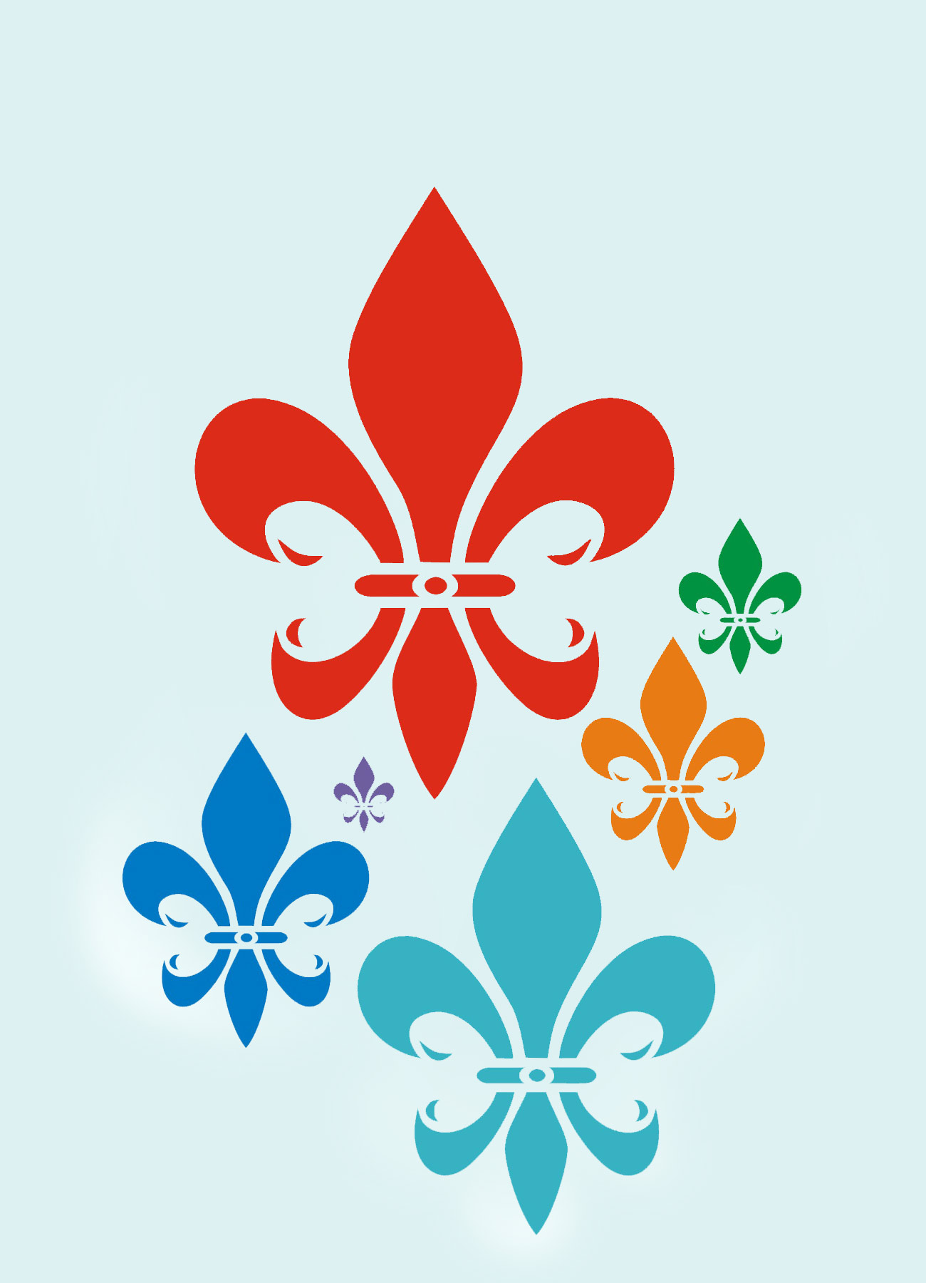Simple fleur de lys stencil henny donovan motif - Fleur de lys symbole ...