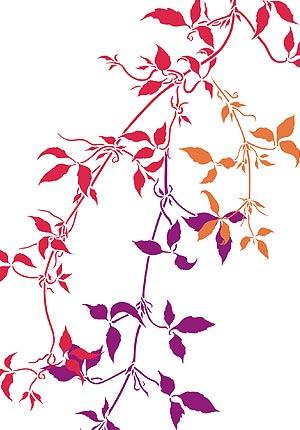 Large Trailing Leaves Stencil 1 - Henny Donovan Motif