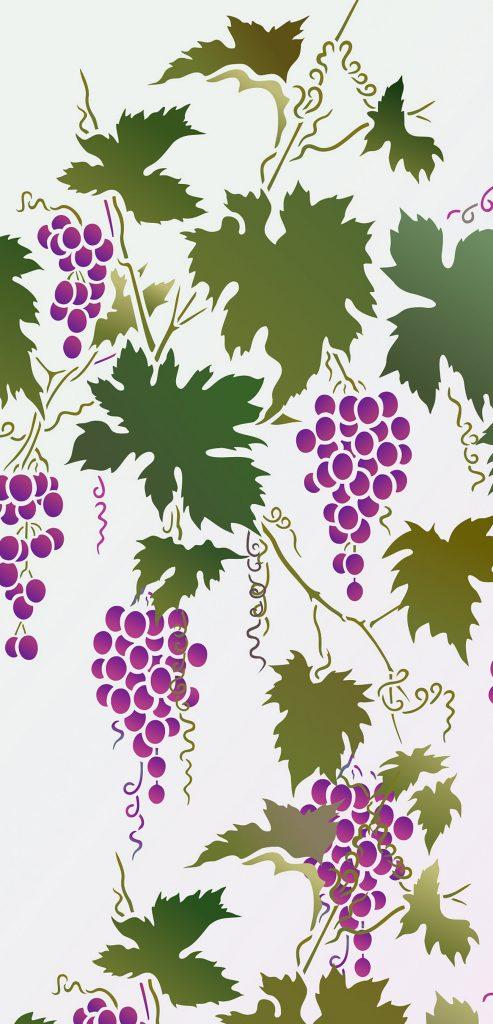 Large Grapevine Stencil Henny Donovan Motif