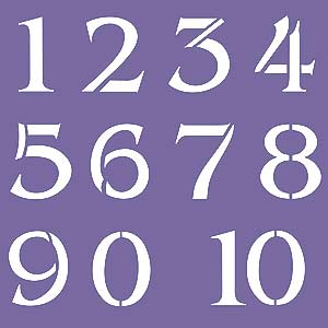 Large Numbers on large printable numbers 1 10