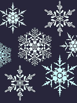 Large snowflakes theme pack stencil henny donovan motif for Big snowflakes decorations