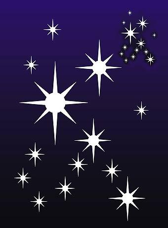 large star cluster stencil henny donovan motif