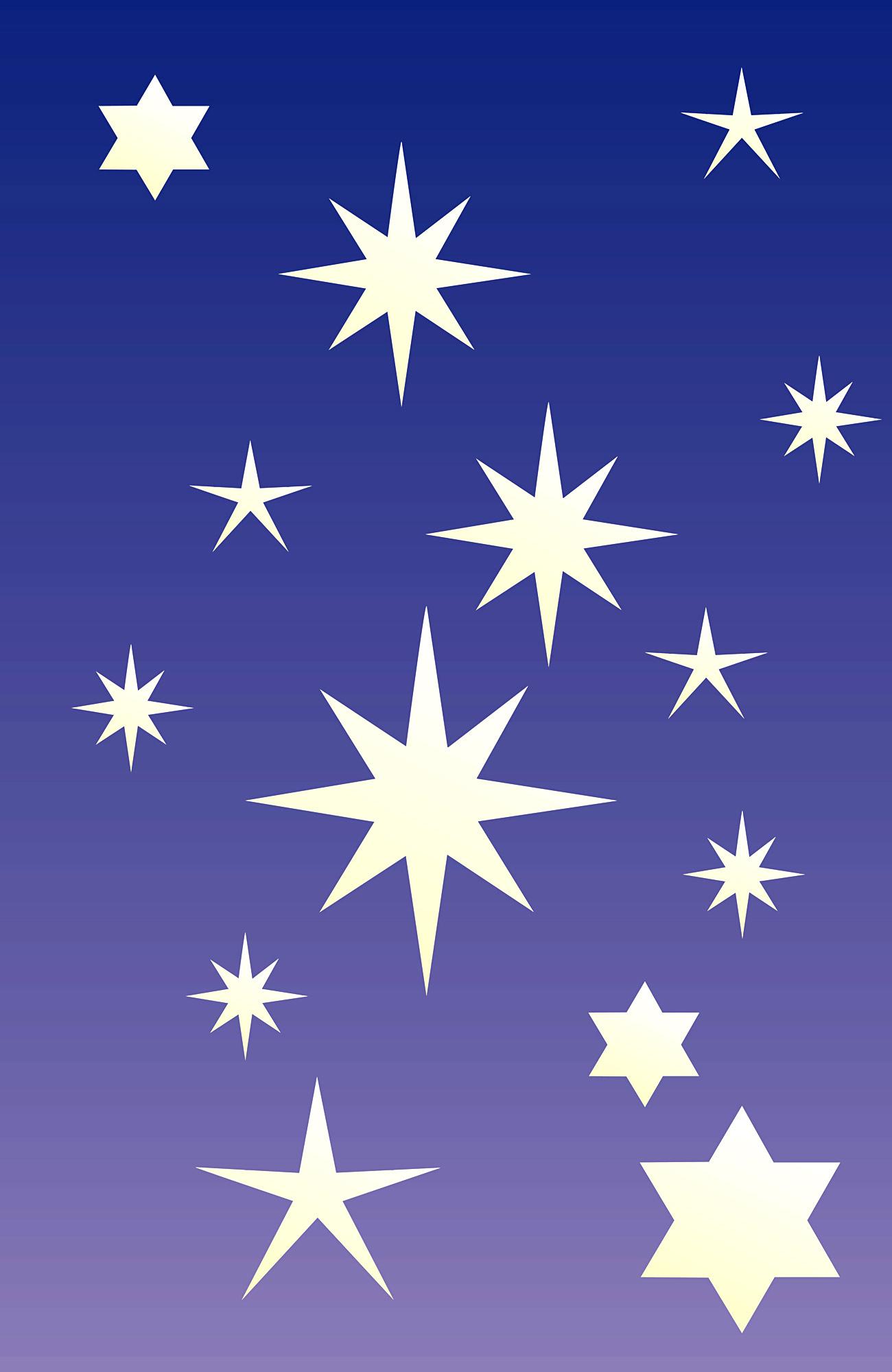 Stencils stars 54