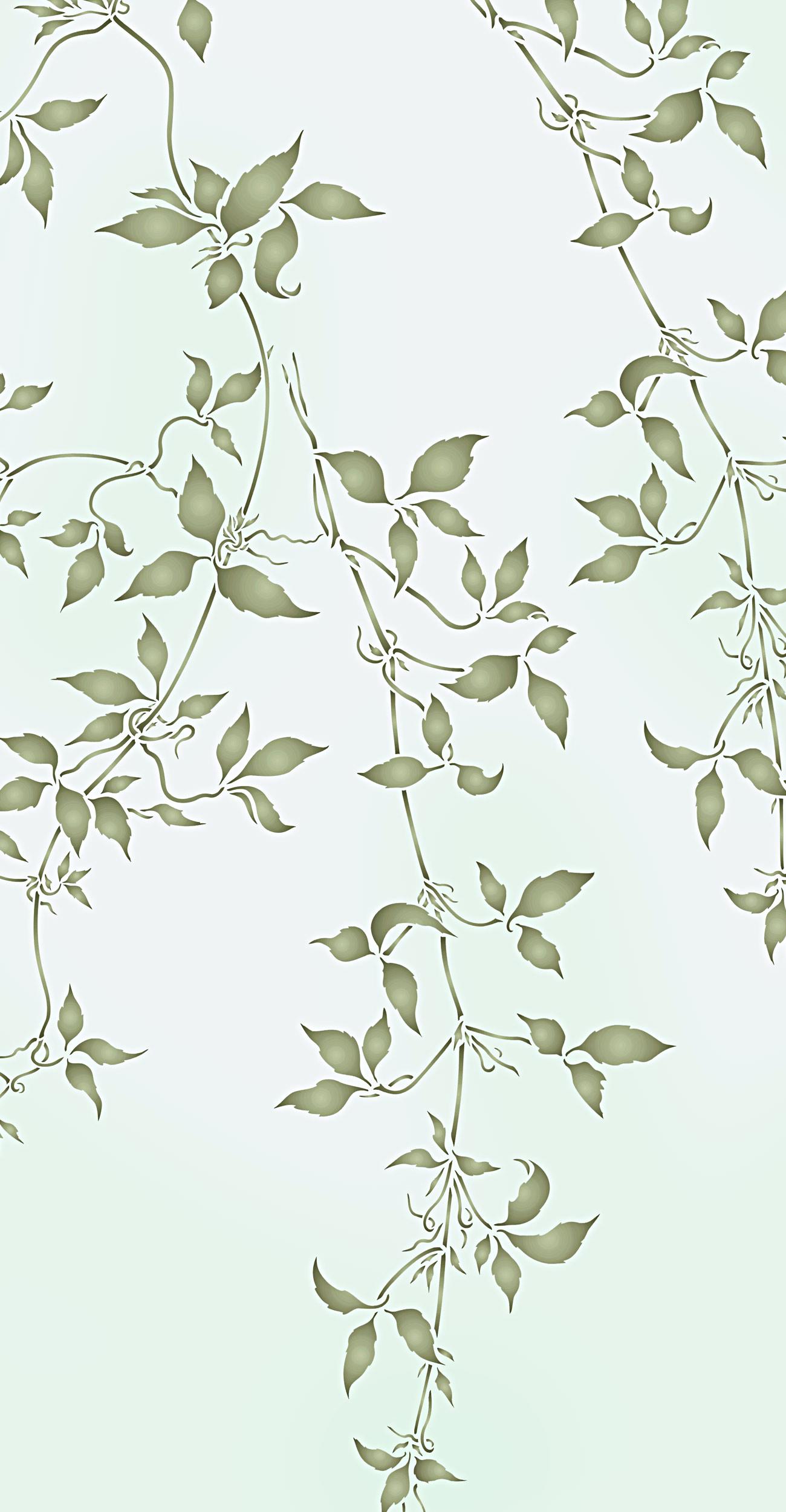 Large Trailing Leaves Stencil 1 Henny Donovan Motif