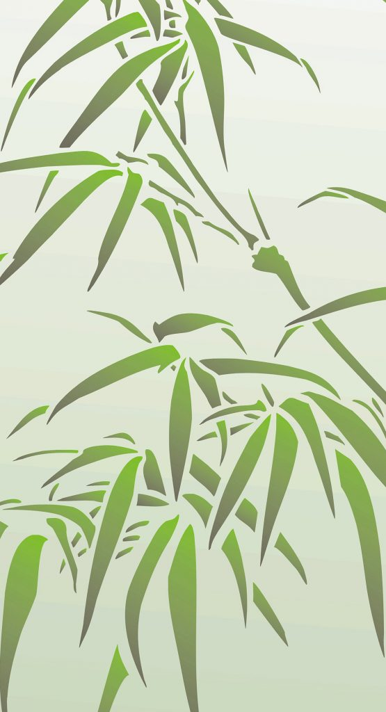 Oversize Chinese Bamboo Stencil Henny Donovan Motif