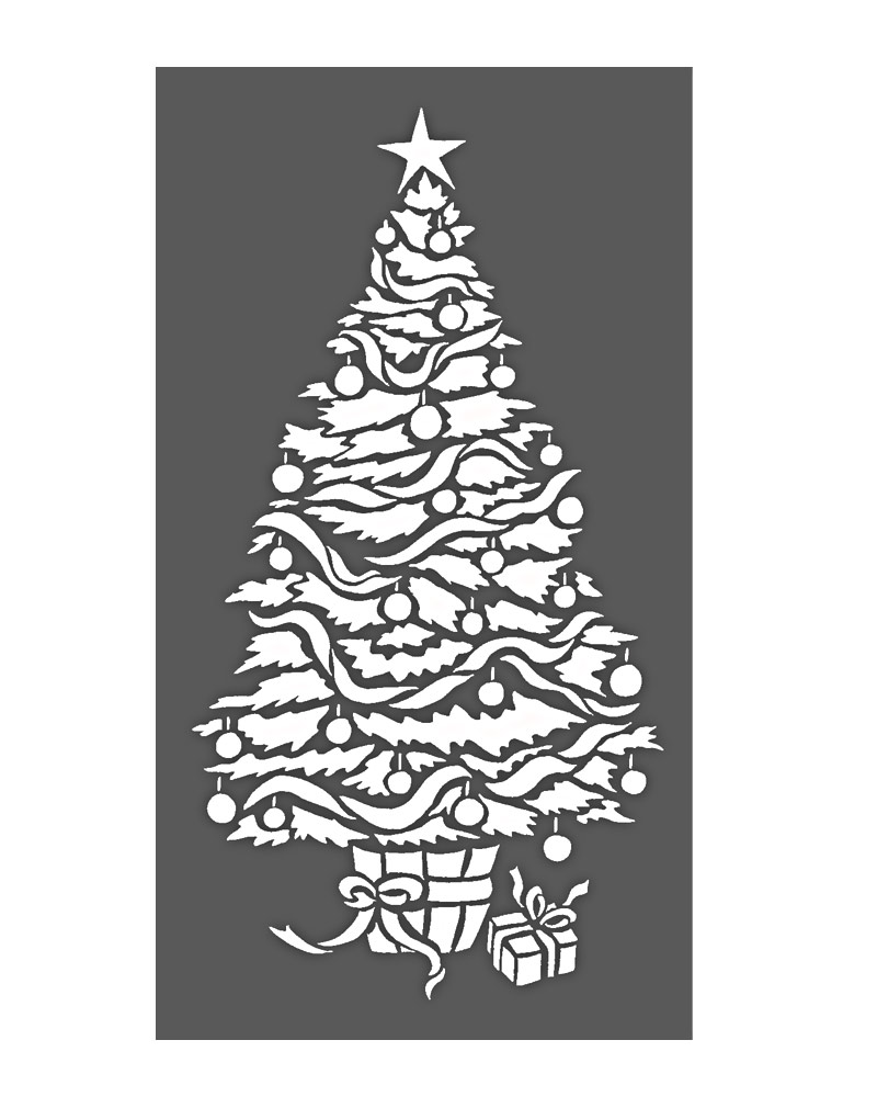 Small Christmas Tree Stencil Henny Donovan Motif
